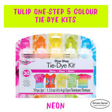 Tie Dye Kit 7 Tulip 5 colour DIY NEON pack FREE POST-dyes up to 30 projects