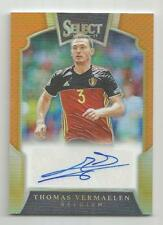 2016-17 Panini Select Soccer Thomas Vermaelen Orange Auto 28/75 BELGIUM