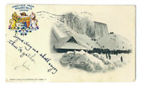 1904 NIAGARA FALLS SNOWING ICE MOUNTAIN NEW YORK BLACK & WHITE POSTCARD