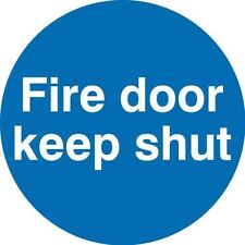Fire Door Keep Shut Sign 10cm Self-adhesive Vinyl Sticker Fire Exit Safety Decal