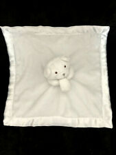 Doudou carré blanc Ours satin Softtouch Soft Touch