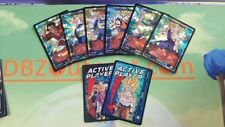 Dragon Ball Z DBZ CCG Tcg Panini Full Set of Active Player + Attack Table Foils!