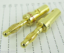 20pcs HiFi Gold Plated 4mm Banana Plug Speaker Cable Wire Solder Free Connector