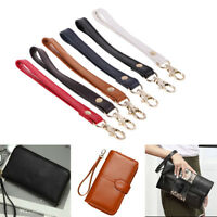 Solid Genuine Leather Wristlet Wrist Strap Replacement Pouch Clutch Purse Handle