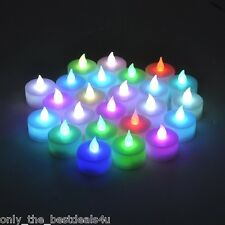 12x COLOUR CHANGING LED TEA LIGHT CANDLES TEALIGHT TEA LIGHTS WITH BATTERIES NEW