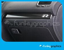 VW GOLF R INTERIOR DASH TRIM STICKER, DECAL, GRAPHIC x2 IN CHROME VINYL