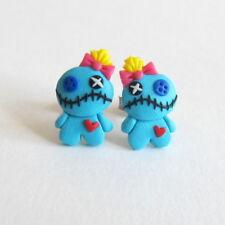 Lilo and Stitch Blue Voodoo Doll Halloween Costume Girls Kids Earrings Jewelry