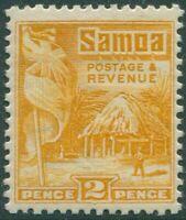 Samoa 1921 SG152 2d yellow Native Hut p14x14½ MH