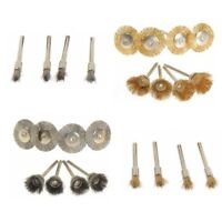 24Pcs Brass Wire Brush Set Wheel Grinder Clean For  Rotary Tool Accessory