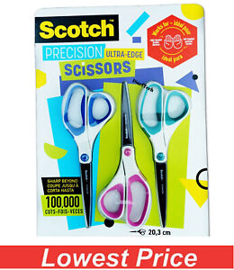 "SCOTCH PRECISION SCISSORS TITANIUM VERY SHARP ULTRA EDGE 8"" SOFT GRIP"