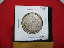1948  CANADA  SILVER   50 CENT PIECE   HALF DOLLAR  COIN   48   KEY DATE