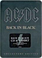 AC/DC - Back in Black Metal Box Tin CD & T-Shirt Size L  NEU OVP