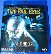 NEW RARE OOP BLUE UNDERGROUND TWO EVIL EYES CULT HORROR MOVIE BLU RAY 1990