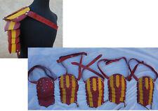 Lot 5 KNIGHT SQUAD Prop Medieval Renaissance Armor Leather Shoulder pauldron