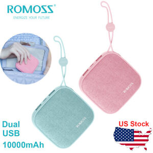 ROMOSS Candybox Mini Power Bank 10000mAh Pocket Portable Charger with Dual USB