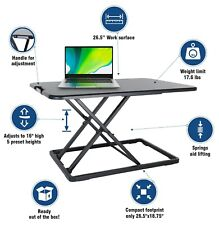 Conquer Compact Standing Desk Height Adjustable Tabletop Sit-Stand Workstation