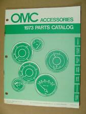 1973 OMC JOHNSON ACCESSORIES OUTBOARD BOAT MOTOR ENGINE PART CATALOG 172604 4979