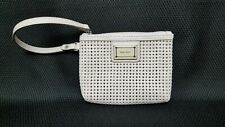 Nine West Collection White Embossed Small Clutch Wristlet Pouch EUC