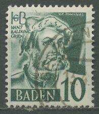 Französische Zone: Baden 1948/49 Hans Baldung Type II, 33 y II gestempelt