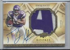 PERCY HARVIN 2009 UD EXQUISITE RPA 2 COLOR LETTER A NAMEPLATE PATCH AUTO RC /225