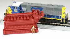 N Scale 5000HP 16 Cylinder Lean-Burn Natural Gas Engine Model Red Oxide
