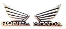 90x70mm Honda Alas Insignia Cromo Moto Motocicleta Calcomanía Adhesivo del tanque de combustible