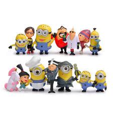 Despicable Me Minions Gru Agnes Edith Margo 14 PCS Action Figure Kids Gifts Toys