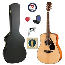 Yamaha FG800 Acoustic Guitar Bundle with Hard Case and  Accessories