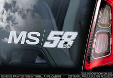 Marco Simoncelli MS58 - Car Window Sticker - Ciao Sic MS 58 Sign Decal - V05