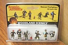 WOODLAND SCENICS RESCUE FIREFIGHTERS HO SCALE FIGURES