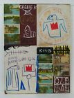 JEAN-MICHEL BASQUIAT COLLAGE AND MIXED MEDIA ON CANVAS 1983 AMERICAN PAINTER