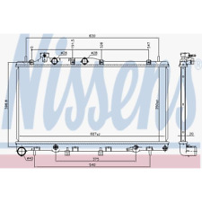Kühler Motorkühlung - Nissens 67739