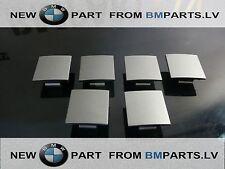 6X NEW  BMW 7SER E65 E66 02-08 DOOR PANEL COVER PLUG DARK SILVER 51417025647