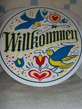 """CONESTOGA CRAFTS Hex Sign, 15"""" Willkommen"""