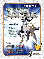 Mythical Arceus Event Code for Pokemon X/Y & ORAS 3DS (GameStop Exclusive) [NA]