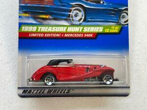 HOT WHEELS 1999 TREASURE HUNT SERIES MERCEDES 540K #1/12 WITH PROTECTOR