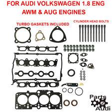 Engine Cylinder Head Gasket Set TURBO GASKETS Reinz BOLTS  AUDI A4 1.8 VW PASSAT