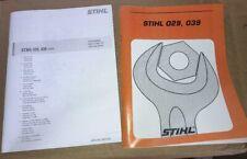 029, 039 Stihl Chainsaw Service Workshop Repair & Parts List Diagram Manual