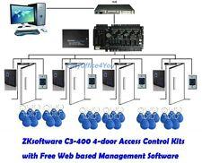 TCPIP IP Access Control Panel C3-400 Four-door ZK software Access Control Kits
