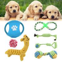7X Dog Rope Toys Kit Tough Strong Chew Knot Ball Pet Puppy Bear Cotton Toy Bulk