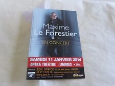 MAXIME LE FORESTIER - CONCERT 2014 !!!!!!!!!!!!RARE FRENCH FLYER