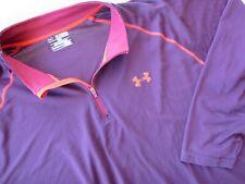 Under Armour Heat Gear Loose 1/4 Zip Men's 3Xl Top Shirt Performance Red Trim