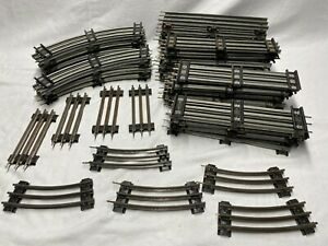 Lionel O Gauge Track- 66 pcs Curves, Straights, Half-Sections in Fair Condition