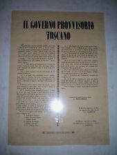 """Editto """"Il Governo Provvisorio toscano"""" Firenze 23 marzo 1849 Montanelli..."""