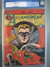All American Comics #27 CGC 5.0 Wenker Pedigree 1941 1st app Doiby Dickles