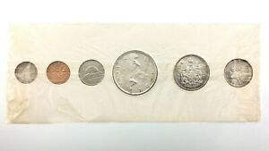 Vintage Canada 1960 Proof Like Set Uncirculated Canadian Elizabeth II Coins R622