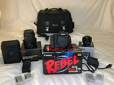 Canon EOS Rebel T3i Digital SLR Camera Lot / With Sigma Zoom Lens and Accesories