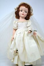 "RARE MADAME ALEXANDER 14"" BRIDE DOLL MARGARET FACE  Long Bridal Veil & Boutique"