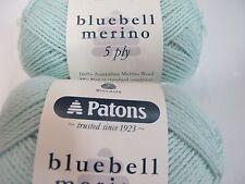 PATONS BLUEBELL MERINO WOOL,10 BALLS 50GR GLACIER,NO 4383,NEW 2017