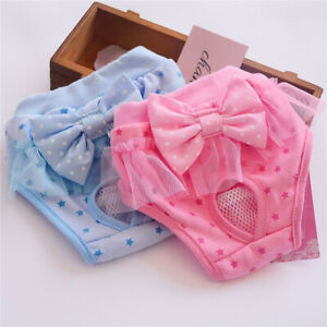 Dog Pet Male Female Nappy Diapers Shorts Sanitary Pants Undies Underpants S-XL